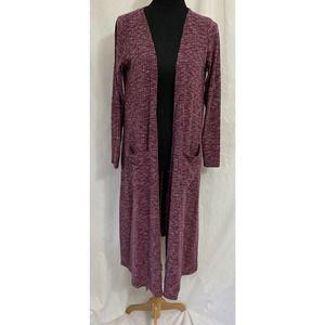 Lularoe Sarah Ribbed Open Duster Cardigan Sweater